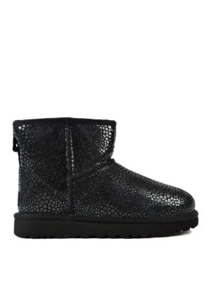 Ugg: ankle boots - Mini Glitzy black shiny booties