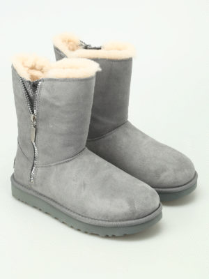 Ugg: ankle boots online - Marice grey suede booties
