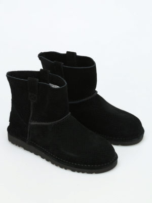 Ugg: ankle boots online - Mini Perf suede ankle boots