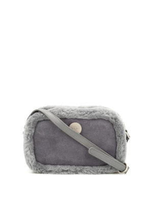 Ugg: cross body bags - Bailey suede cross body bag