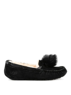 UGG: Mocassini e slippers - Slipper Dakota Pom Pom nere