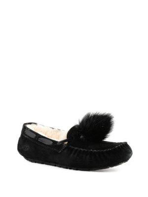 UGG: Mocassini e slippers online - Slipper Dakota Pom Pom nere