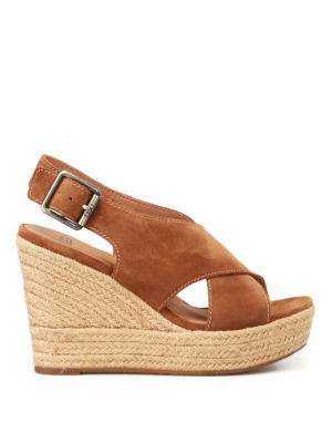 Ugg: sandals - Harlow suede wedge sandals