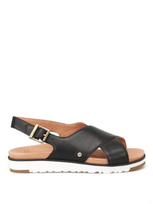 Ugg: sandals - Kamile black leather sandals