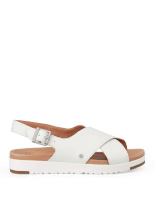 Ugg: sandals - Kamile white leather sandals