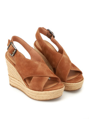 Ugg: sandals online - Harlow suede wedge sandals