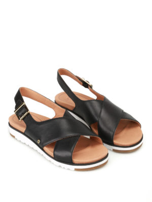 Ugg: sandals online - Kamile black leather sandals