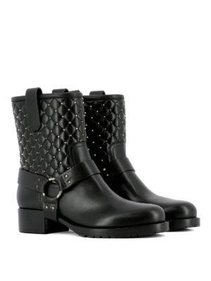 Valentino: ankle boots online - Spike Rockstuds biker boots