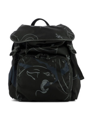 Valentino: backpacks - Camupanther multi pocket backpack