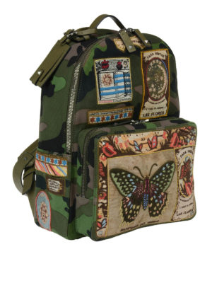 Valentino: backpacks online - Camouflage patchwork backpack