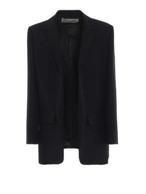 VALENTINO: giacche blazer - Lungo blazer sartoriale aperto in crepe cady