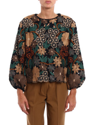 Valentino: blouses online - Embroidered see-through blouse