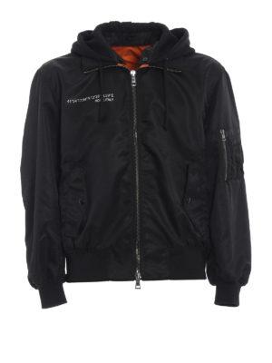 Valentino: bombers - Always print nylon bomber jacket