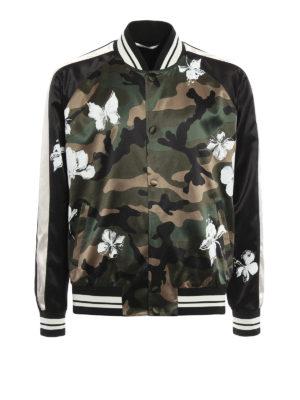 Valentino: bombers - Camu print bomber jacket