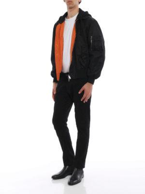 Valentino: bombers online - Always print nylon bomber jacket