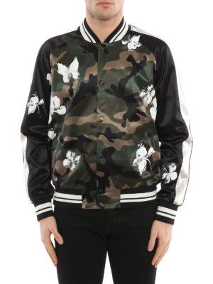 Valentino: bombers online - Camu print bomber jacket