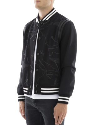 Valentino: bombers online - Panther printed wool bomber