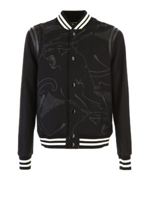 Valentino: bombers - Panther printed wool bomber
