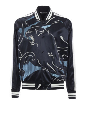 Valentino: bombers - Shimmering panther print bomber