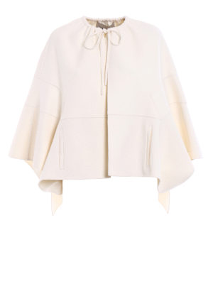Valentino: Capes &  Ponchos - Double cashmere blend short cape