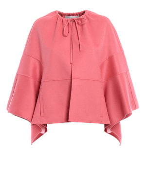 Valentino: Capes &  Ponchos - Double wool cashmere short cape