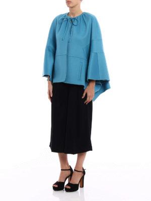 Valentino: Capes &  Ponchos online - Cashmere blend double short cape
