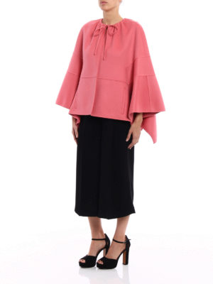 Valentino: Capes &  Ponchos online - Double wool cashmere short cape