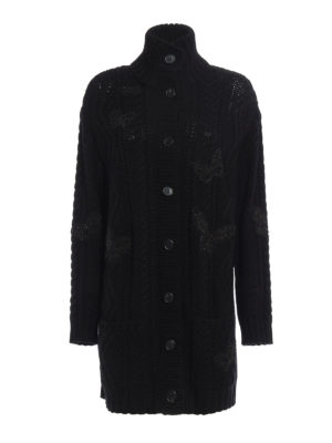Valentino: cardigans - Embroidered wool over cardigan
