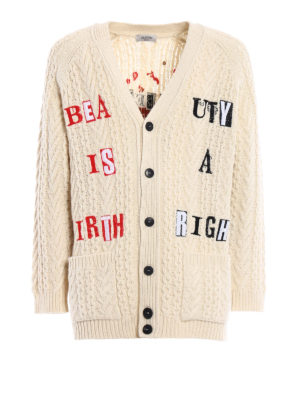 Valentino: cardigans - Jamie Reid embroidered cardigan