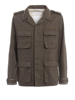 Valentino: casual jackets - 03. Rockstud Untitled field jacket
