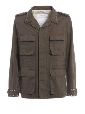 Valentino: casual jackets - 03. Rockstud Untitled field jacket
