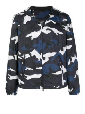 VALENTINO: giacche casual - Giacca in tessuto tecnico camouflage blu