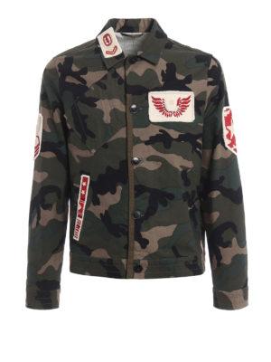 Valentino: casual jackets - Camu canvas livery jacket