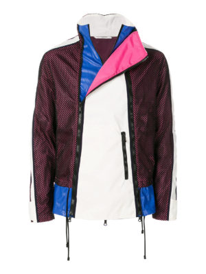 VALENTINO: giacche casual - Giacca a vento a blocchi di colore