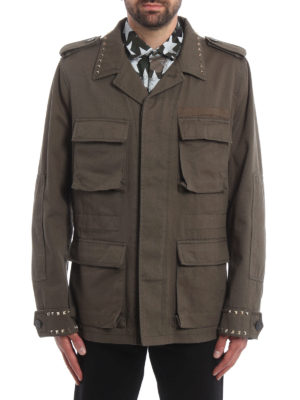 Valentino: casual jackets online - 03. Rockstud Untitled field jacket