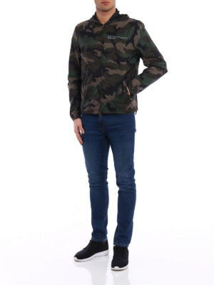 Valentino: casual jackets online - Always nylon camouflage jacket
