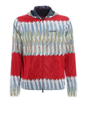 Valentino: casual jackets - Zandra Rhodes printed windbreaker