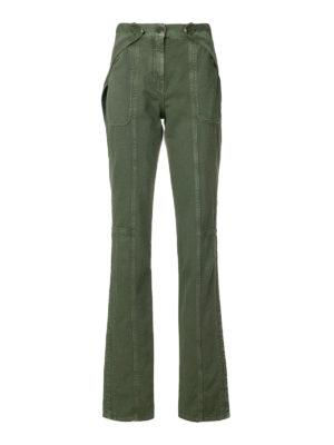 VALENTINO: pantaloni casual - Pantaloni in denim verde militare