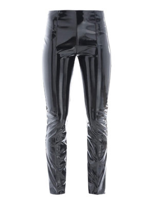 VALENTINO: pantaloni casual - Pantalone in vinile nero