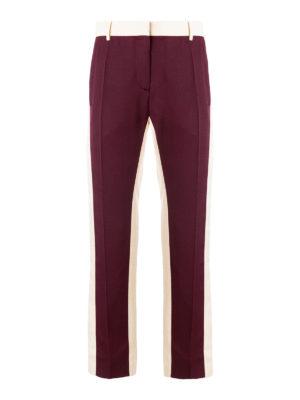VALENTINO: pantaloni casual - Pantaloni in misto seta bicolori