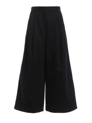 Valentino: casual trousers - Cotton twill culottes