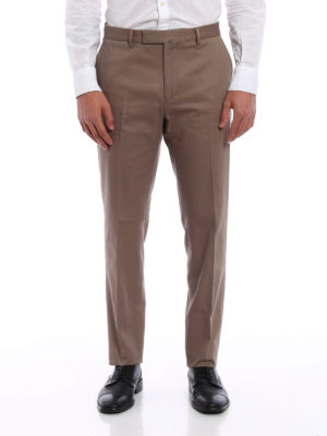 Valentino: casual trousers online - Cotton drill chino trousers