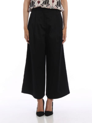 Valentino: casual trousers online - Cotton twill culottes
