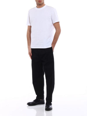 Valentino: casual trousers online - VLTN cropped cargo trousers