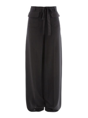 Valentino: casual trousers - Silk palazzo trousers