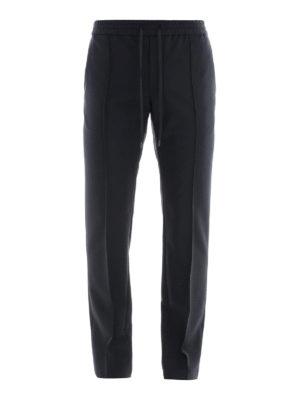 VALENTINO: pantaloni casual - Pantaloni in lana e mohair con coulisse