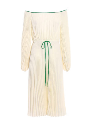 Valentino: cocktail dresses - Delicate pleated silk bucolic dress
