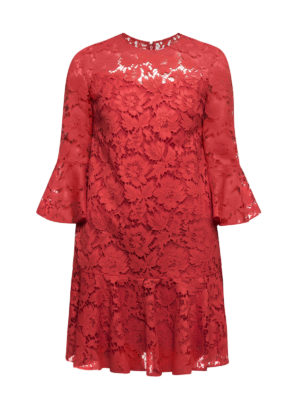 Valentino: cocktail dresses - Heavy Lace bell sleeve short dress