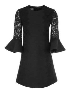 VALENTINO: abiti da cocktail - Abito corto nero in Heavy Lace