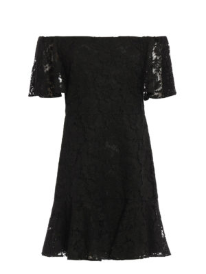 Valentino: cocktail dresses - Heavy Lace off the shoulder dress